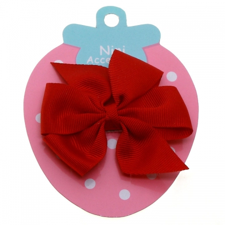 Red Boutique Bow Large Grosgain Ribbon