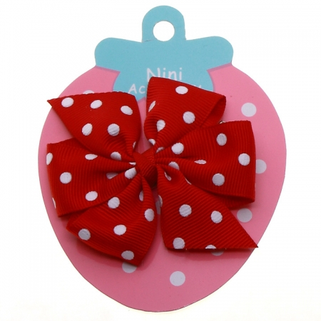 Red White Polka Dots Boutique Bow Large Grosgain Ribbon
