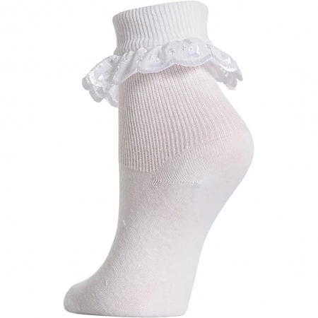 3 pairs petit girls frilly white socks
