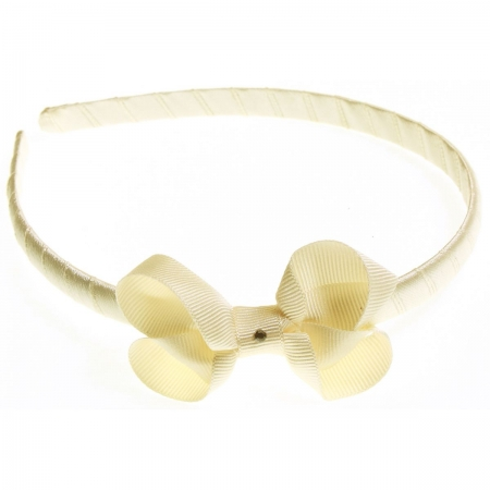 Ivory bow Alice band