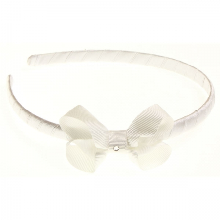 White bow Alice band