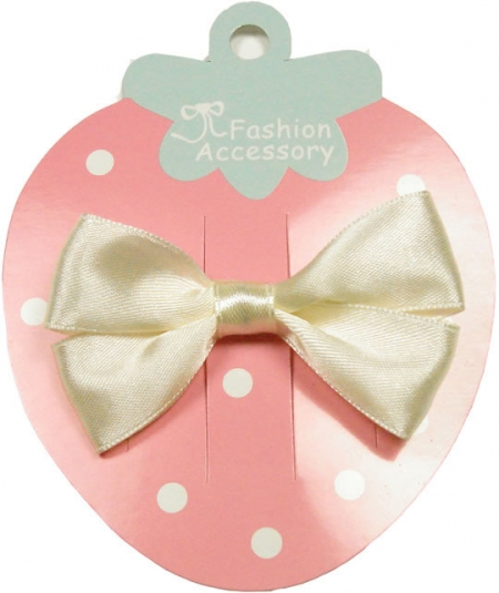 One ivory hair bow