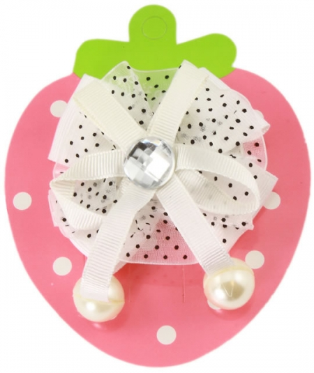Crytal Pearl White Hair Bow
