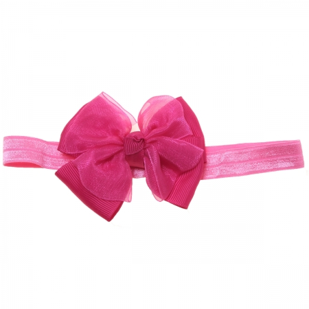 Fuchsia Bow And Headband 2 In 1