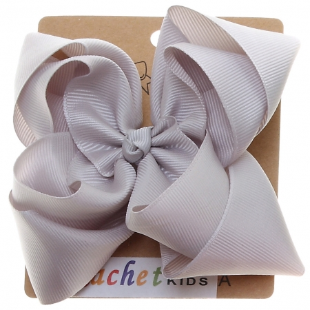 Large Ice Grey Colour Double Stacking Bow