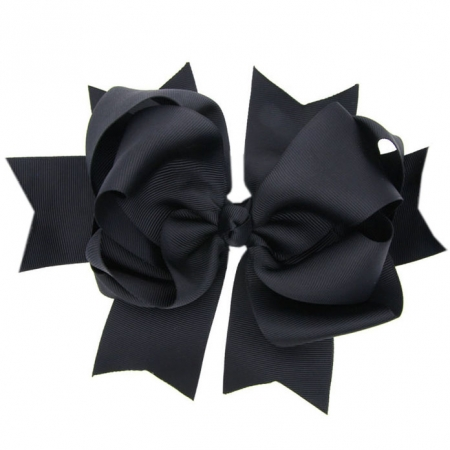 Large 8 inches Black Bow