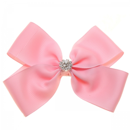 Large Pink Bow With Glitter Diamantes