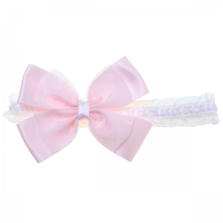 Large Pink Bow Headband