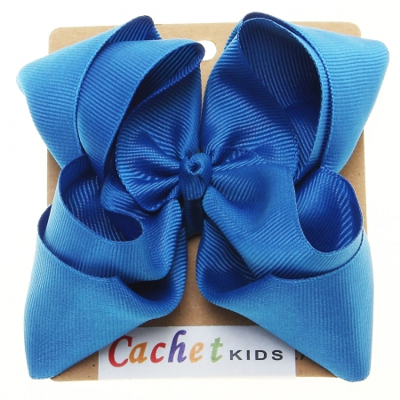 Large Azul Blue Colour Double Stacking Bow
