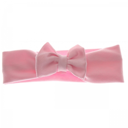 Double Bows Satin Pink Hair Bow