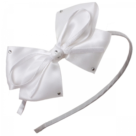 Large White Bow Alice Band