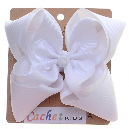 Large White Colour Double Stacking Bow