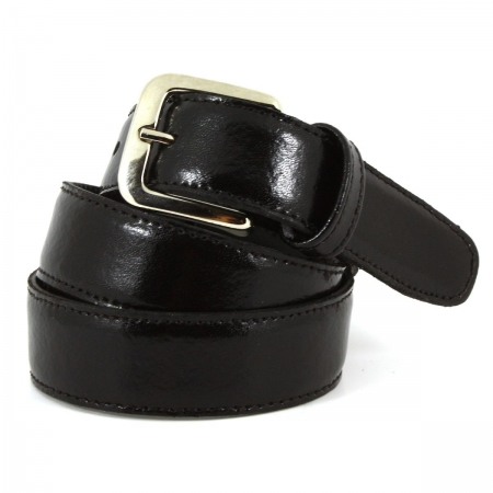 Boys Black Belt 100% Leather