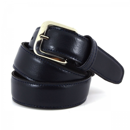 Boys Navy Belt in Leather From 1 Years To Teen