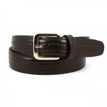 boys brown belt with pattern made in spain 100 leather