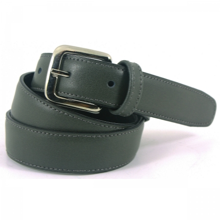 Boys Grey Belt 100% Leather