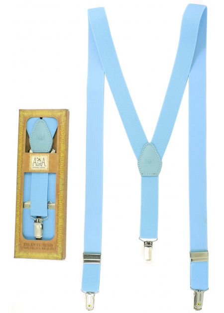 Spanish Hand Made Baby Blue Braces For 6 to 13 years