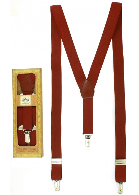 Made in Spain Childrens Burgundy Braces For 6 to 13 years