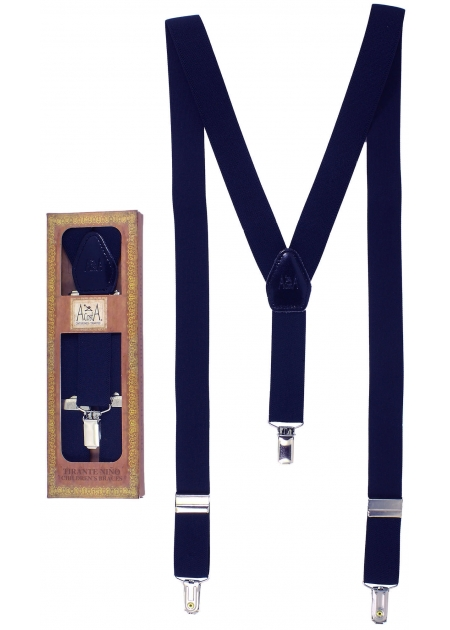 Made in Spain Childrens Navy Braces For 6 to 13 years