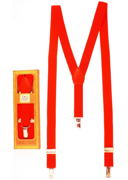 Made in Spain Childrens Red Braces For 6 to 13 years