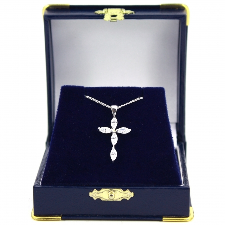 Communion Jewellery Diamantes Cross Communion Necklace