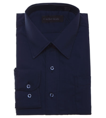 Boys Formal Shirt Boys Navy Shirt
