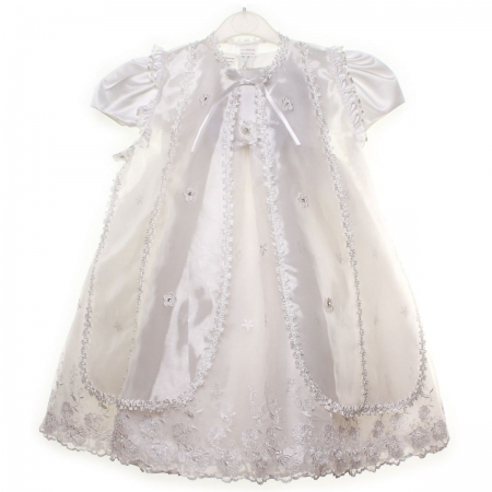 SALE Baby Girls Long Christening Dress