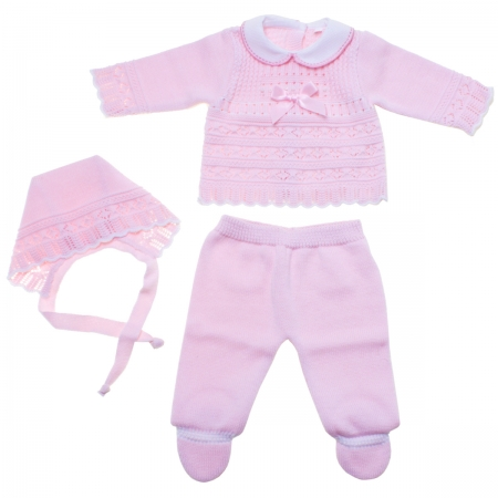 Baby Girls Knitted Set For Spring Summer