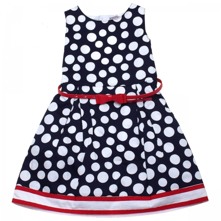 Sale Spring Summer Spanish Boboli Navy Polka Dots Pretty Dress