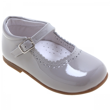 Toddler Girls Mary Jane Ice Grey Patent Shoes