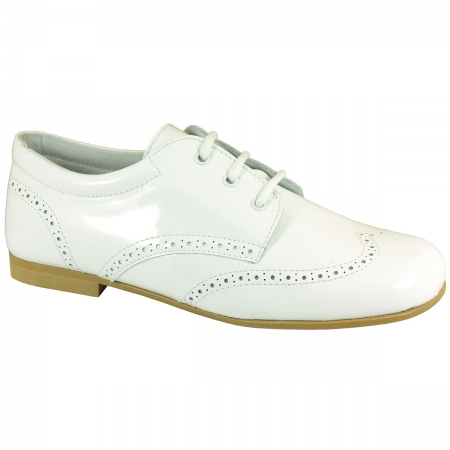 Boys White Patent Leather Shoes For Special Occasions