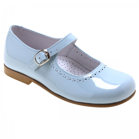 Girls Blue Patent Mary Jane Shoes