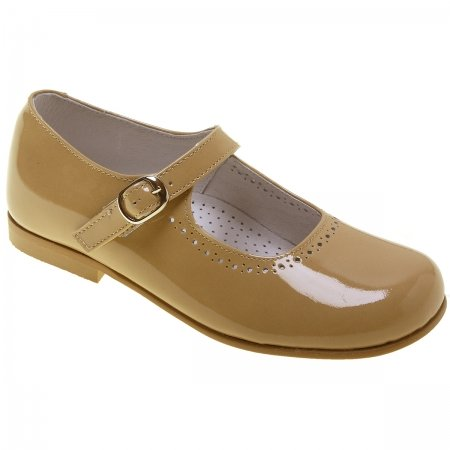 Girls Caramel Patent Mary Jane Shoes