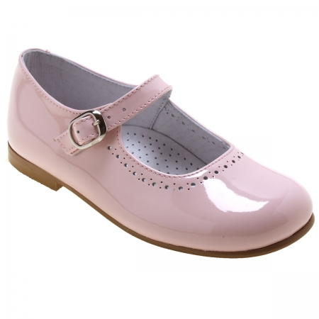 Girls Pink Patent Mary Jane Shoes