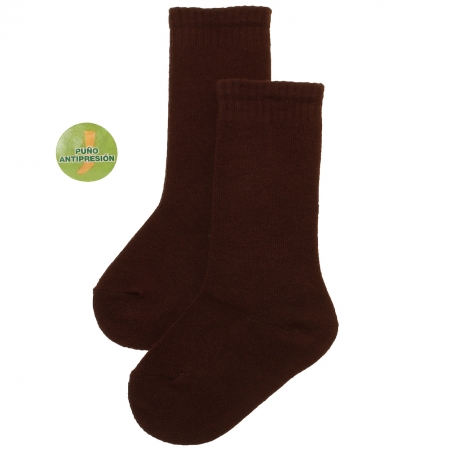 Dark Chocolate Brown Plain Knee High Baby And Toddler Socks