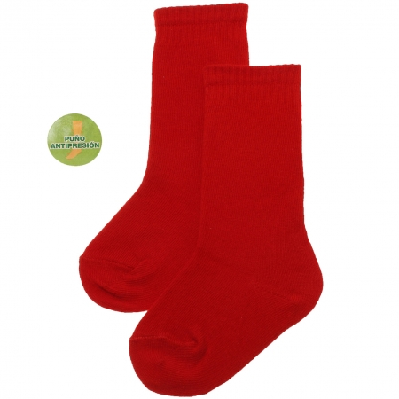 Plain Knee High Red Socks For Babies And Toddlers
