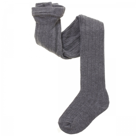 Carlomagno Ribbed Grey Tights