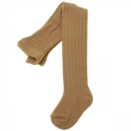 Caramel Colour Ribbed Tights By Carlomagno