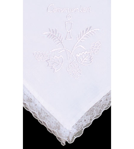 First Holy Communion Handkerchief In White