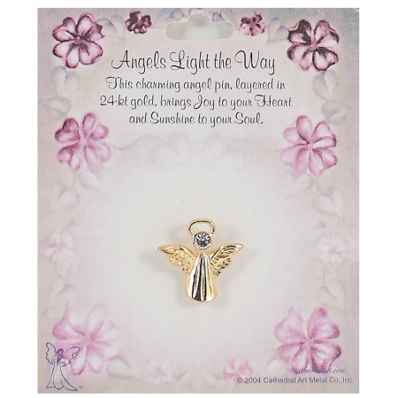 Angels Light The Way Communion Pin or Brooch