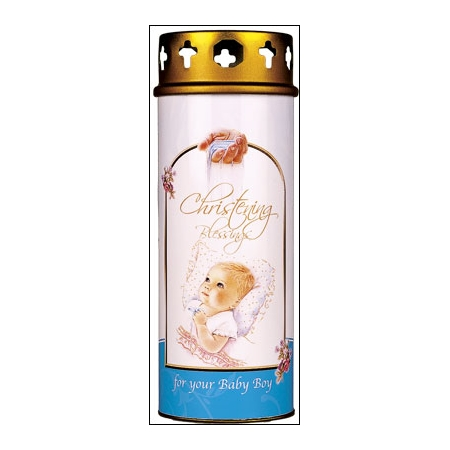 Christening Candles for Baby Boys