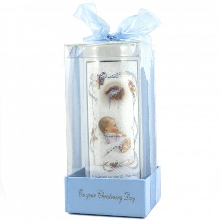 Keepsake Christening Candle For A Baby Boy