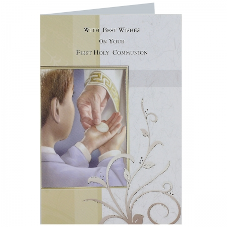Best Wishes On Your First Holy Communion Greeting Card