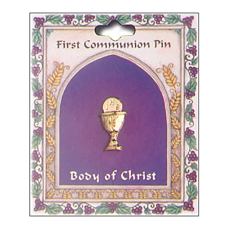Gold Chalice First Holy Communion Pin Or Brooch