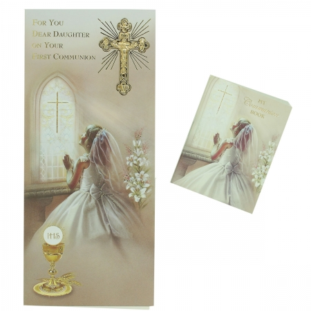 Daughters Communion Card With Colour Illustrated Communion Book