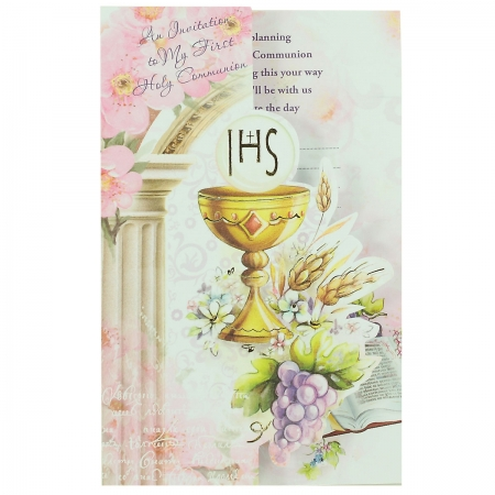 Pack of 12 Folded Communion Invite Card