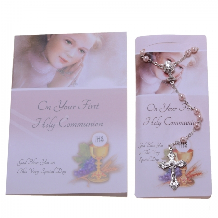 Pink Rosary With Pray The Rosary Booklet