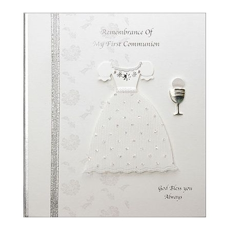 Girls Remembrance of My First Communion Keepsake Card