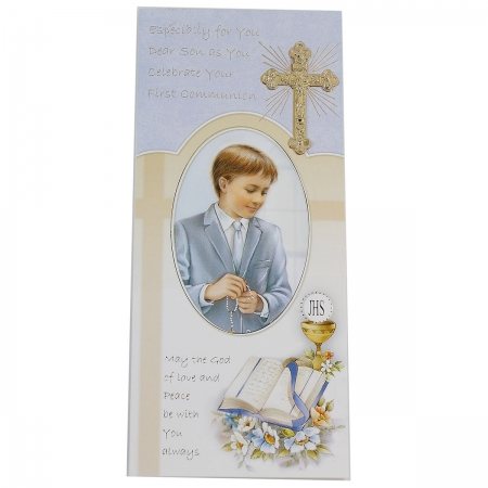 My Son First Holy Communion Card