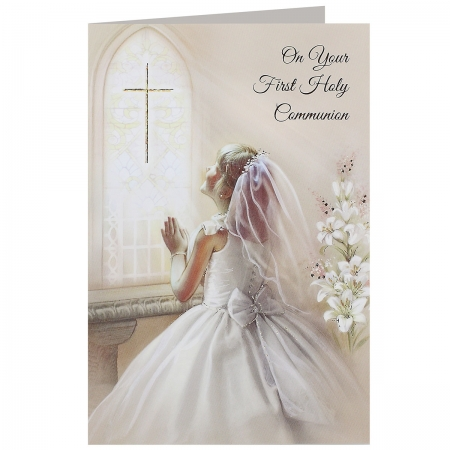 Girls On Your First Holy Communion Card